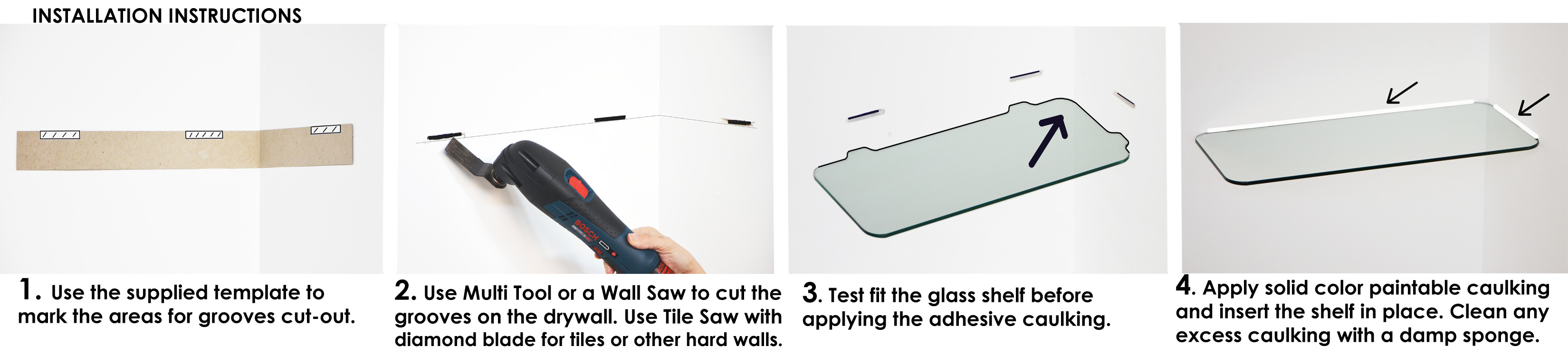 How To Install Floating Shelves Floating Glass Shelves Store
