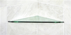 Glass Triangle Corner Shelf