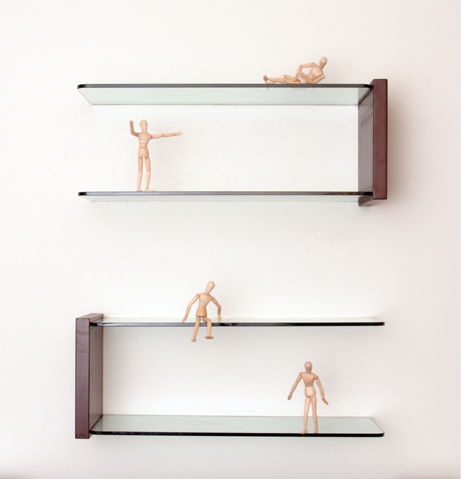 Floating Glass Shelves - Glass Corner Shelves