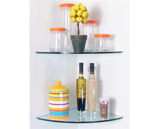 Glass Curve Corner Shelf