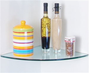 Curve Glass Corner Shelf