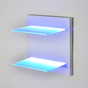 Turn Key Led Lighted Glass Shelving Units Even Lighted