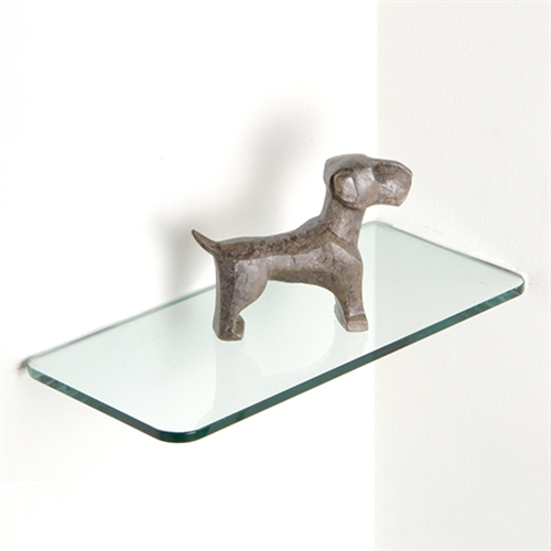 "Glass Rectangle Corner Shelves 8"" x 16"""